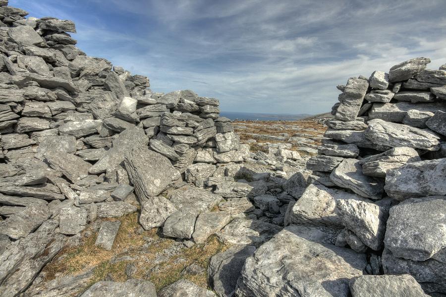 Ballyvaughan Photograph - Caherdooneerish Stone Fort  by John Quinn