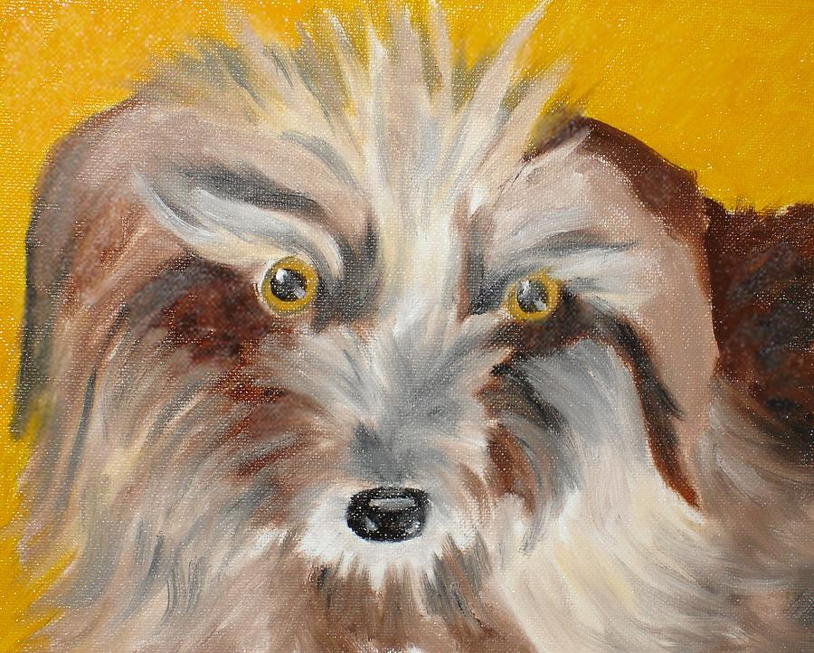 Dog Painting - Cairn Terrier by Susan Kubes