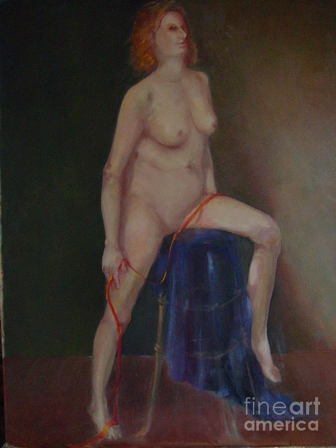 Figure Painting - Caitlin  Copyrighted    by Kathleen Hoekstra