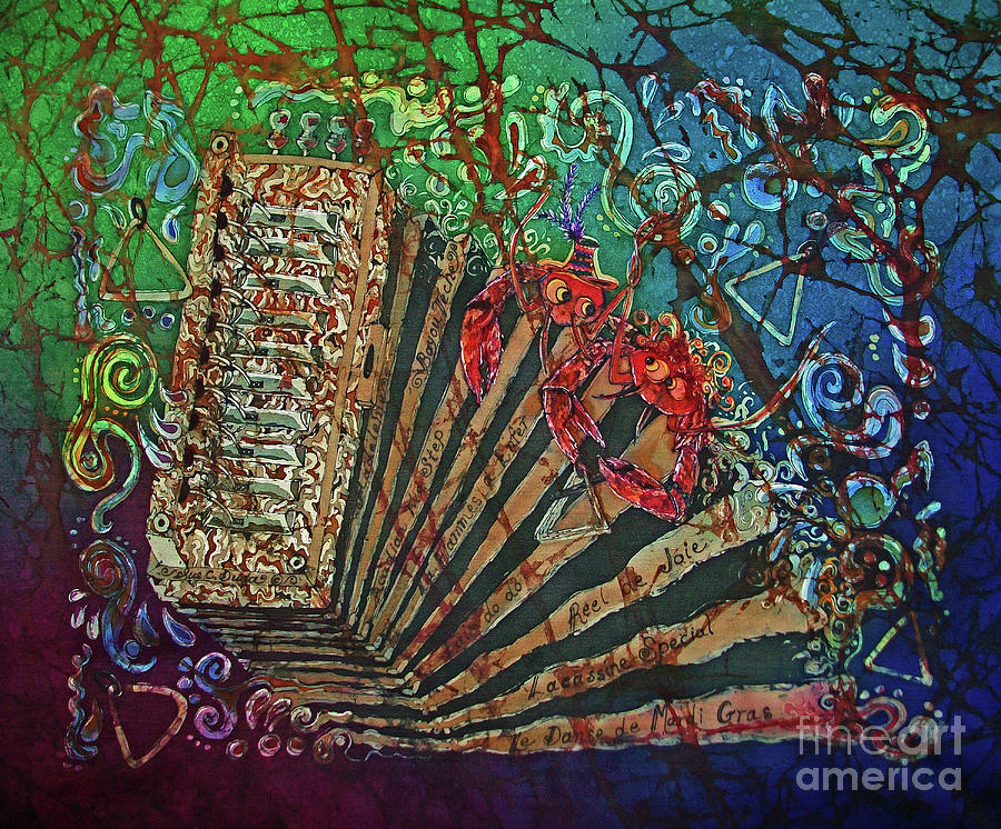 Cajun Painting - Cajun Accordian by Sue Duda