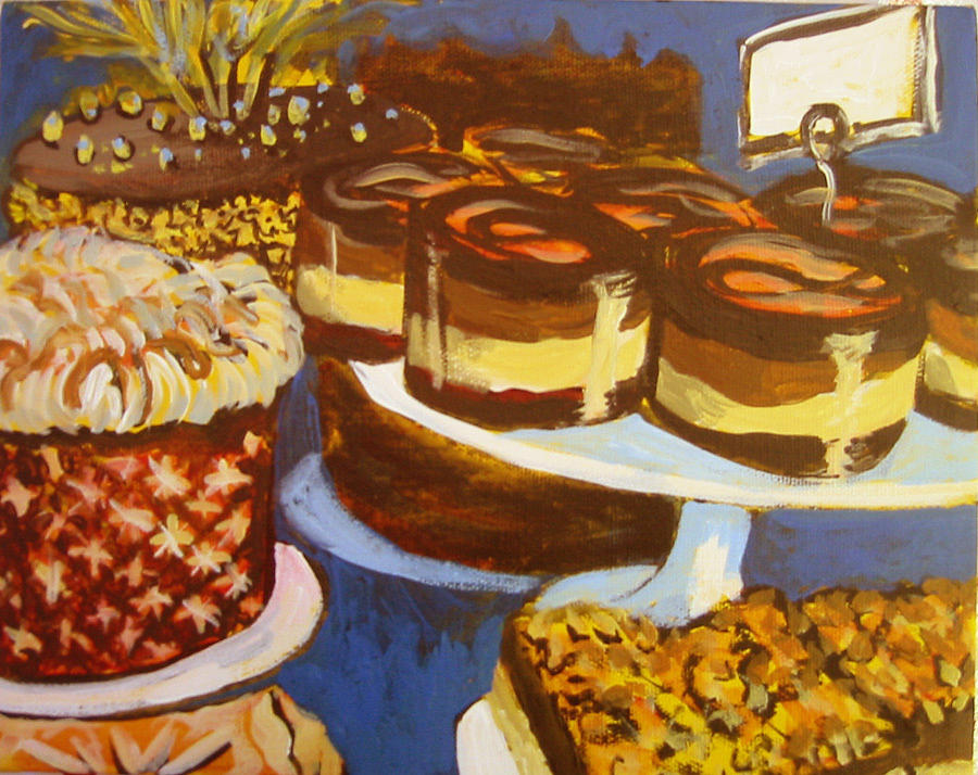 Cake Painting - Cake Case by Tilly Strauss