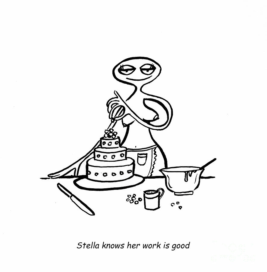 Stella Digital Art - Cake Competitor by Leanne Wilkes