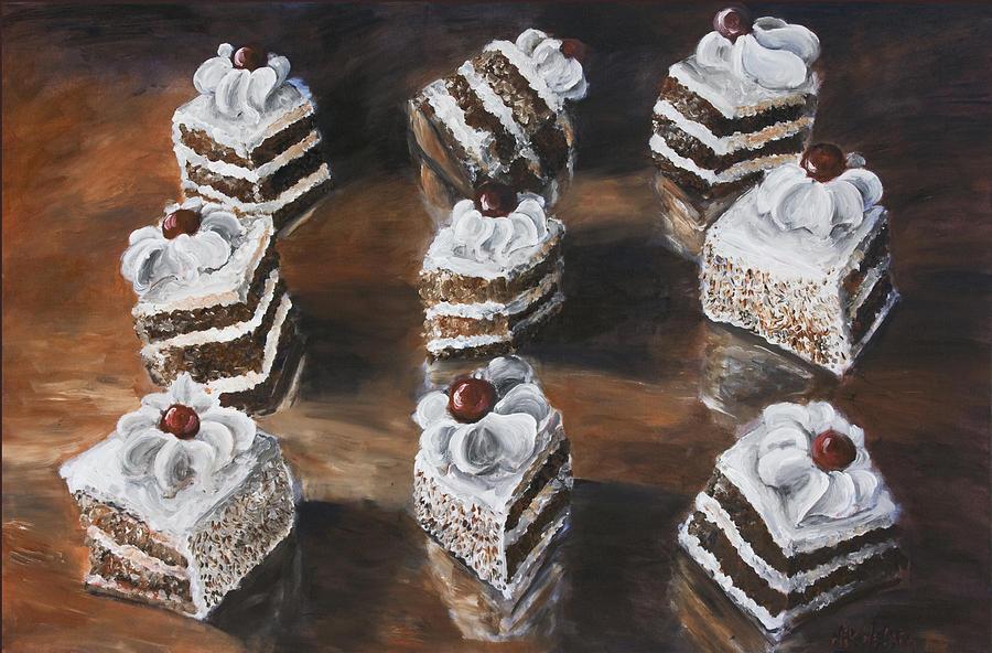 Cake Painting - Cake by Nik Helbig