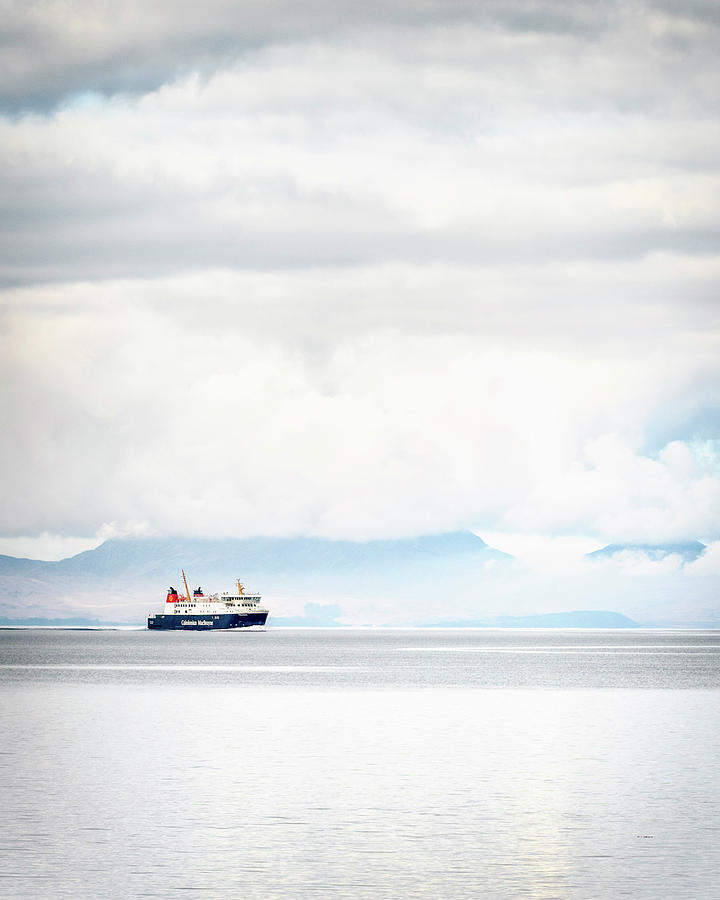 Cal Photograph - Cal Mac Ferry Crossing by Phillips and Phillips