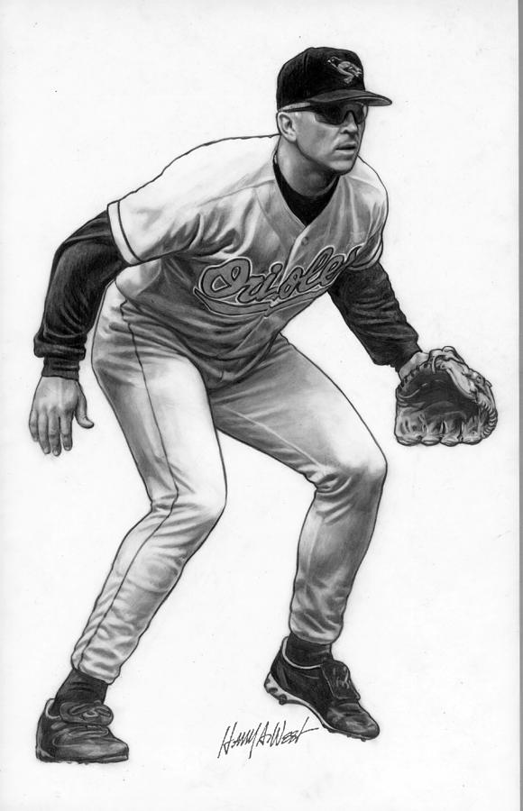 Cal Ripken Drawing - Cal Ripken by Harry West