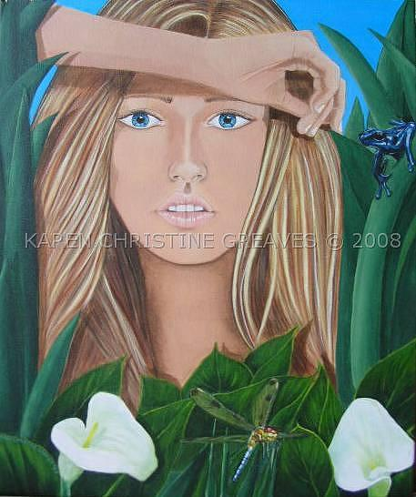 Water Nymphs Painting - Cala by Karen Greaves