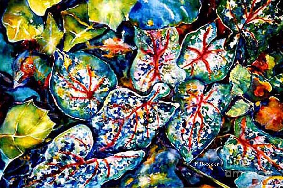 Leaves Painting - Caladiums by Norma Boeckler