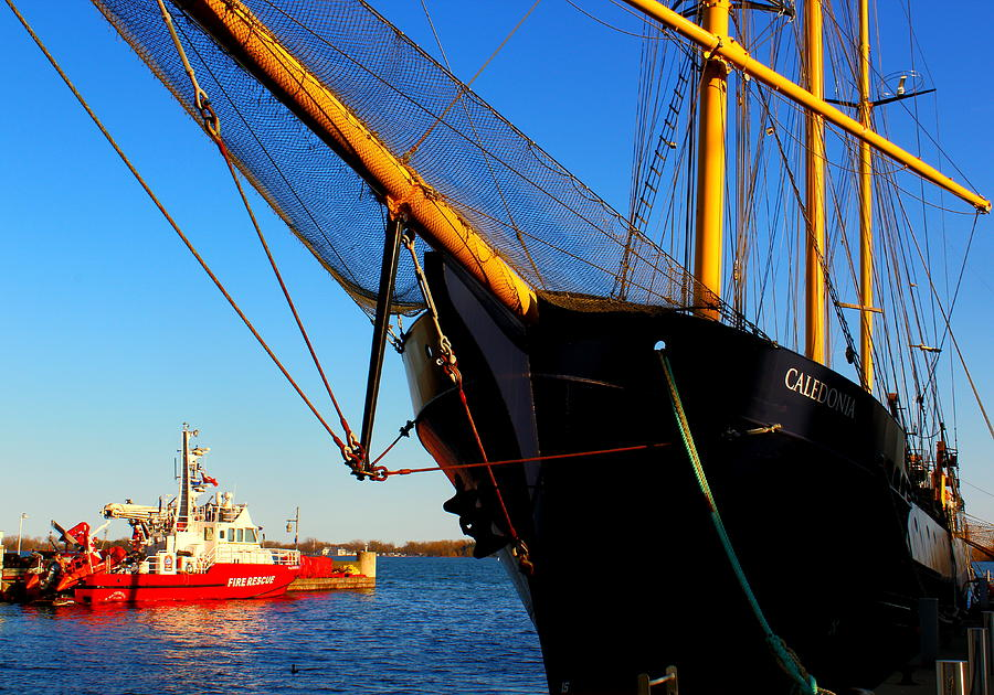 Harbor Photograph - Caledonia Ship by Anne N