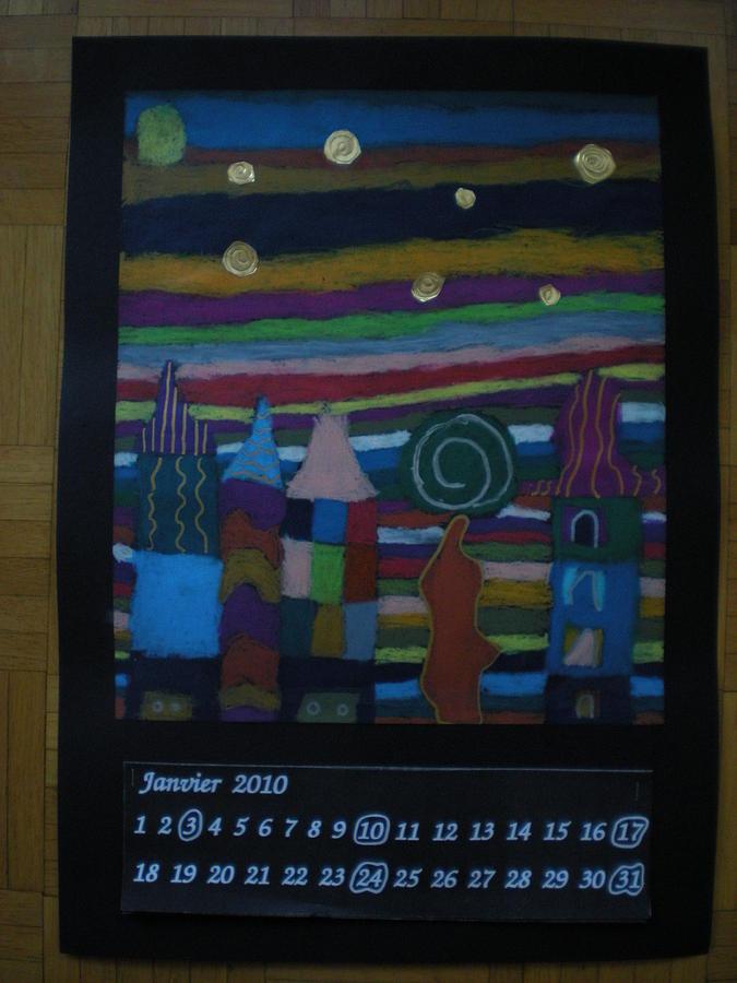Calendar 2010 Painting by Raissa Ghezzani