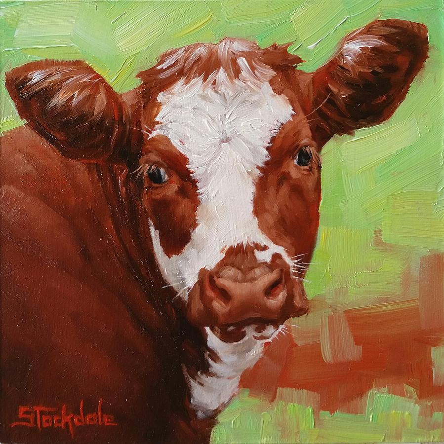 Calf Portrait In Miniature  by Margaret Stockdale