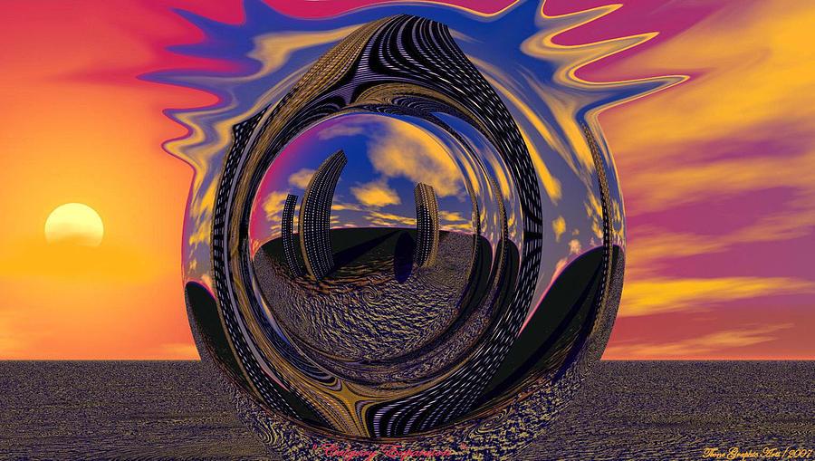 Mixed Media Digital Art - Calgary Expansion by Wayne Bonney