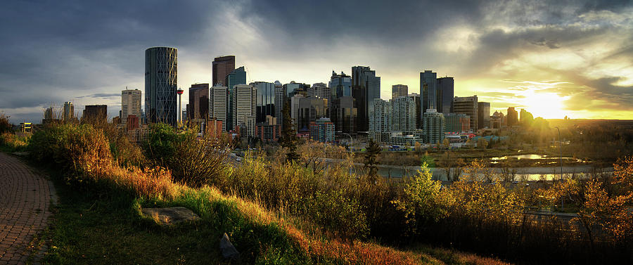 Calgary Sunset Panorama Photograph