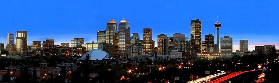 Alberta Photograph - Calgarys Skyline by Richard Wear