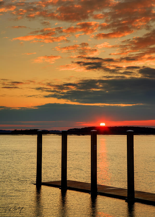 Clouds Photograph - Calibogue Sound Sunset by Phill Doherty