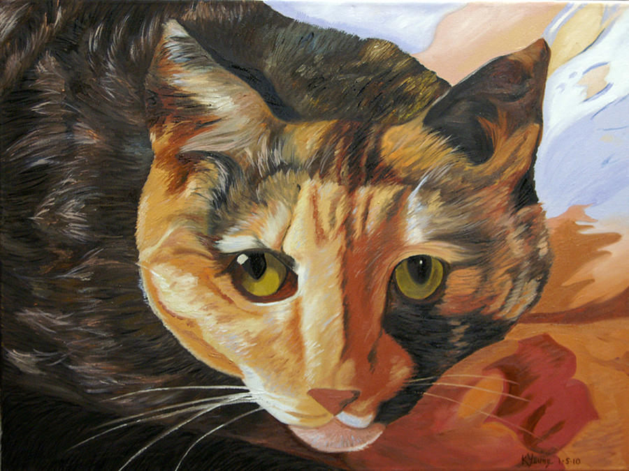 Animal Painting - Calico by Kenneth Young