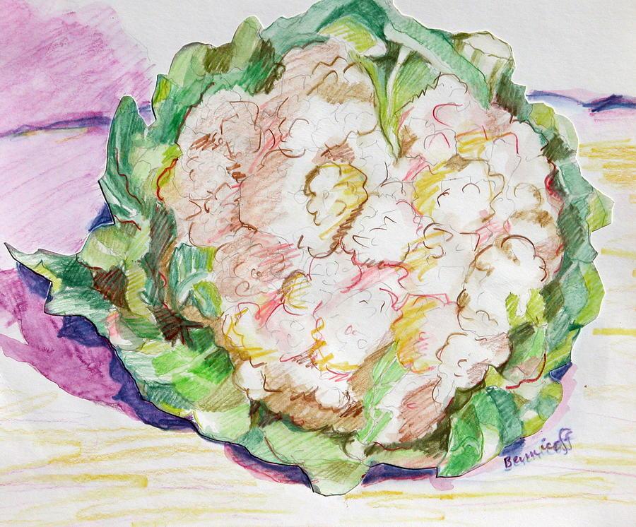 Cauliflower Painting - Califlower by Jan Bennicoff