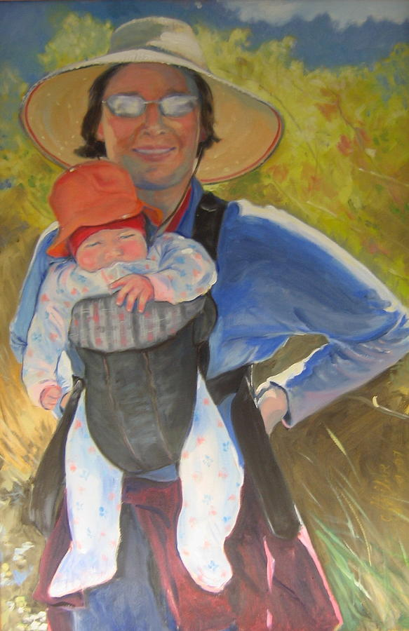 Mother Painting - California Babes by Carolyn Favor Kibbe