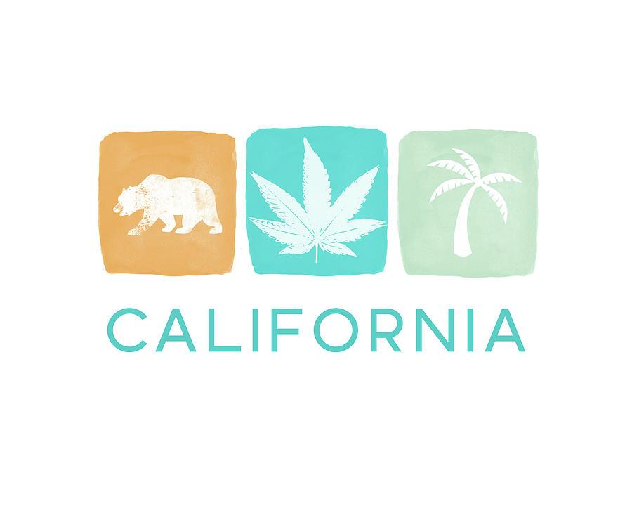 California Mixed Media - California Cannabis- Art By Linda Woods by Linda Woods
