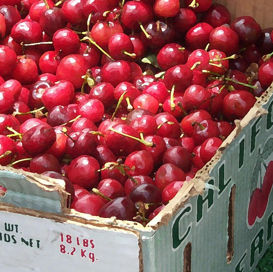 Food Photograph - California Cherries by Linda Scharck