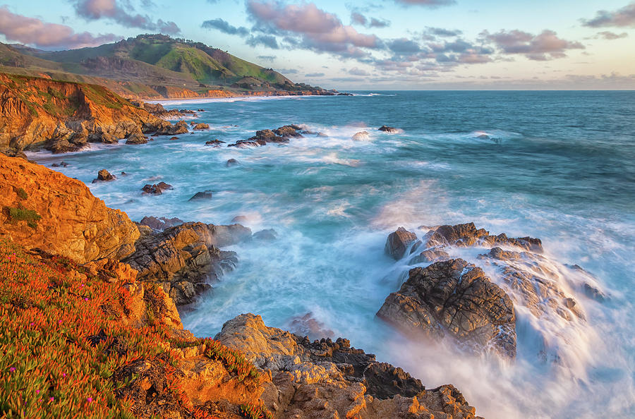 Landscape Photograph - California Coast In Spring by Jonathan Nguyen