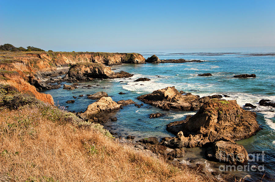California Photograph - California Coast Rocky Cliffs by Dan Carmichael