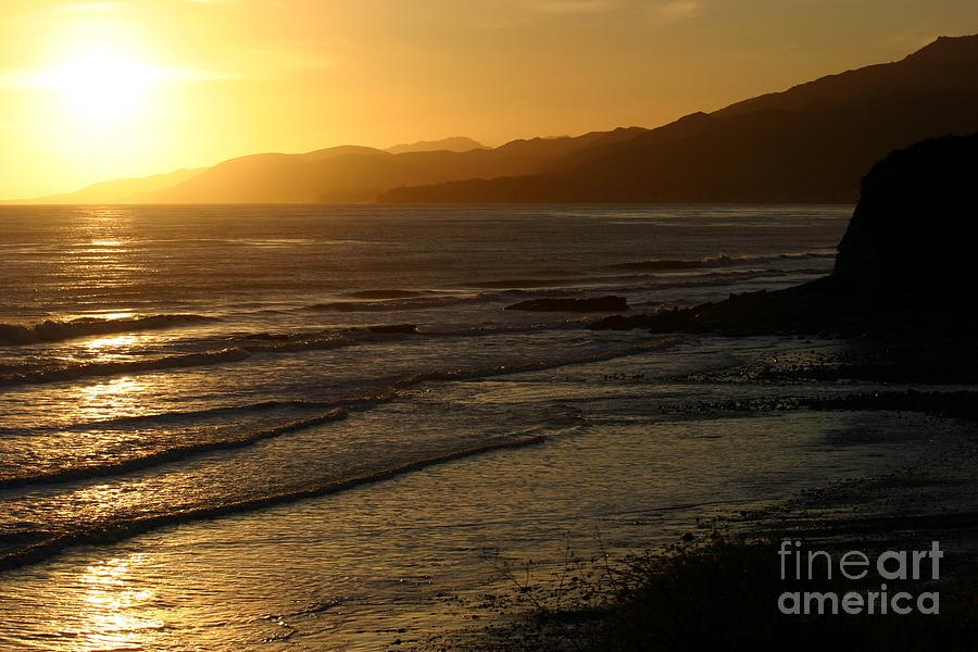 California Sunset Photograph - California Coast Sunset by Balanced Art