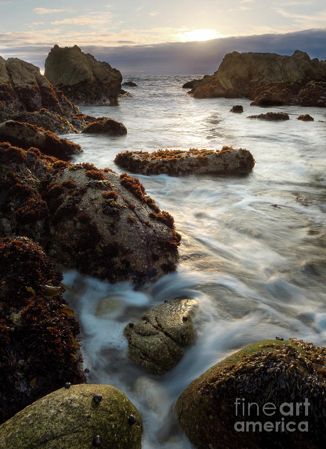 California Coastline Sunset, Pacific Grove, CA  #40105-07-10 by John Bald