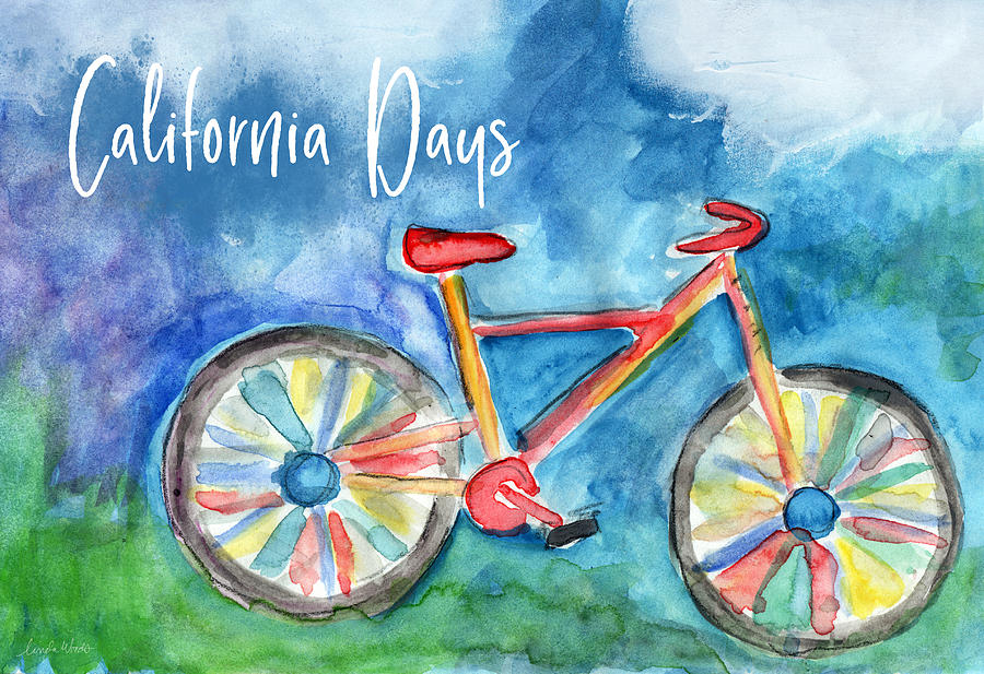 Bike Painting - California Days - Art By Linda Woods by Linda Woods