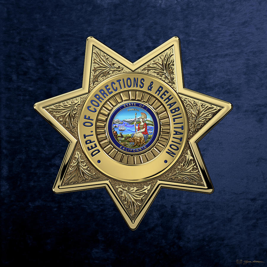 Charmant Law Enforcement Digital Art   California Department Of Corrections And  Rehabilitation   C D C R Officer Badge Over