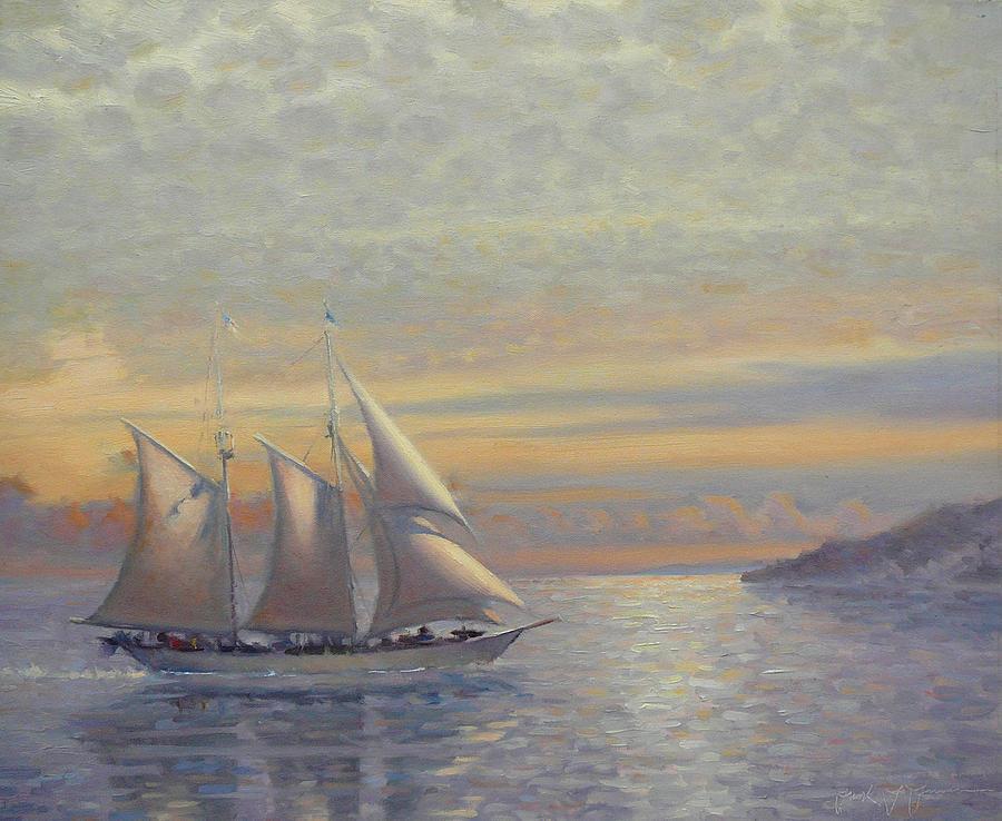 Sailing Painting - California by Frank LaLumia