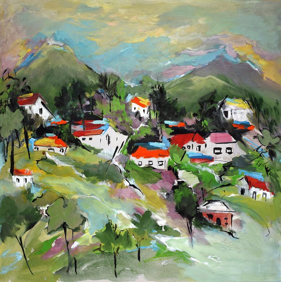 California Painting - California Hills   by Mary Spyridon Thompson