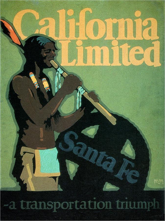 Santa Fe Mixed Media - California Limited - Santa Fe - Retro travel Poster - Vintage Poster by Studio Grafiikka