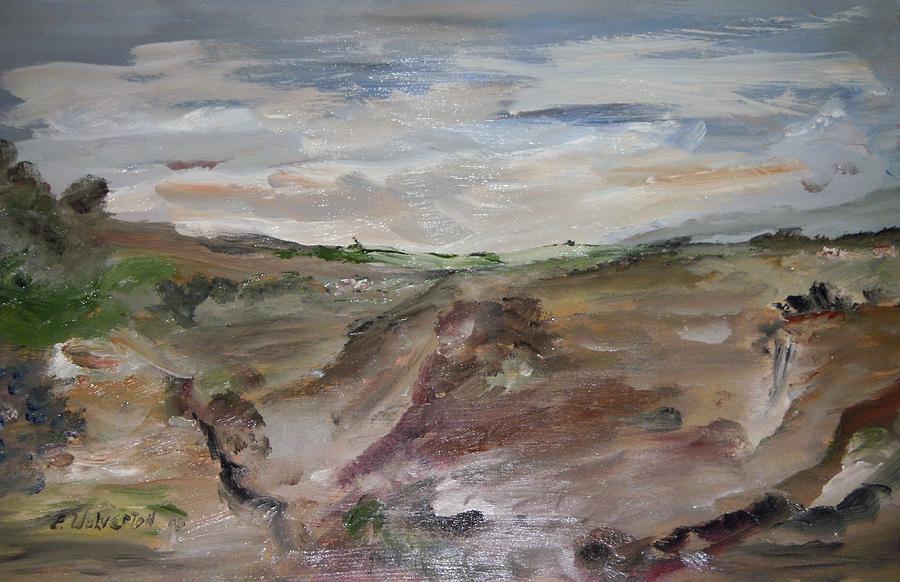 Landscape Painting - California Pacific Coastline by Edward Wolverton