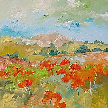 Original Painting - California Poppies by Linda Monfort