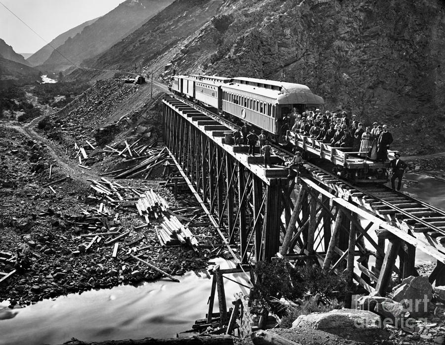 1869 Photograph - California: Railroad, 1869 by Granger