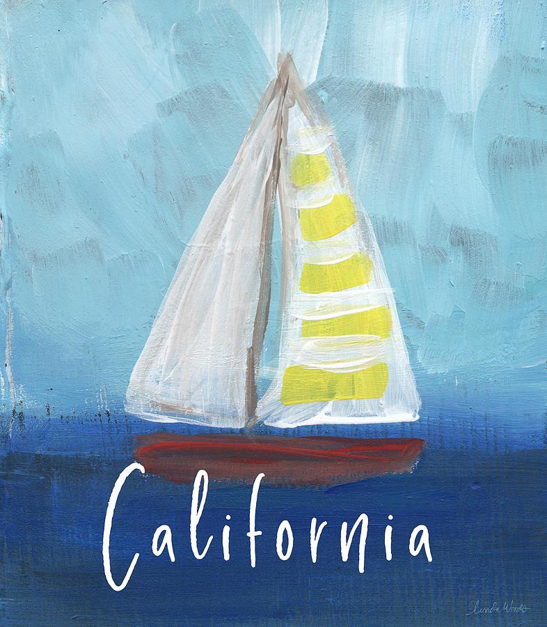 California Mixed Media - California Sailing- Art by Linda Woods by Linda Woods