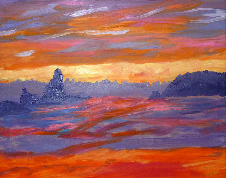 Water Painting - California Seascape by Vivian Stearns-Kohler