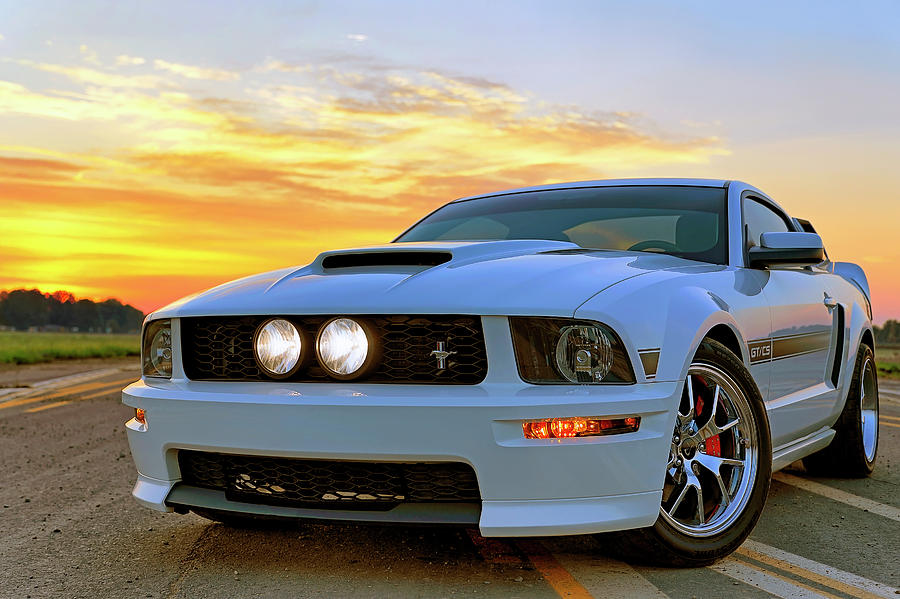 California Special Sunrise - Mustang - American Muscle Car by Jason Politte