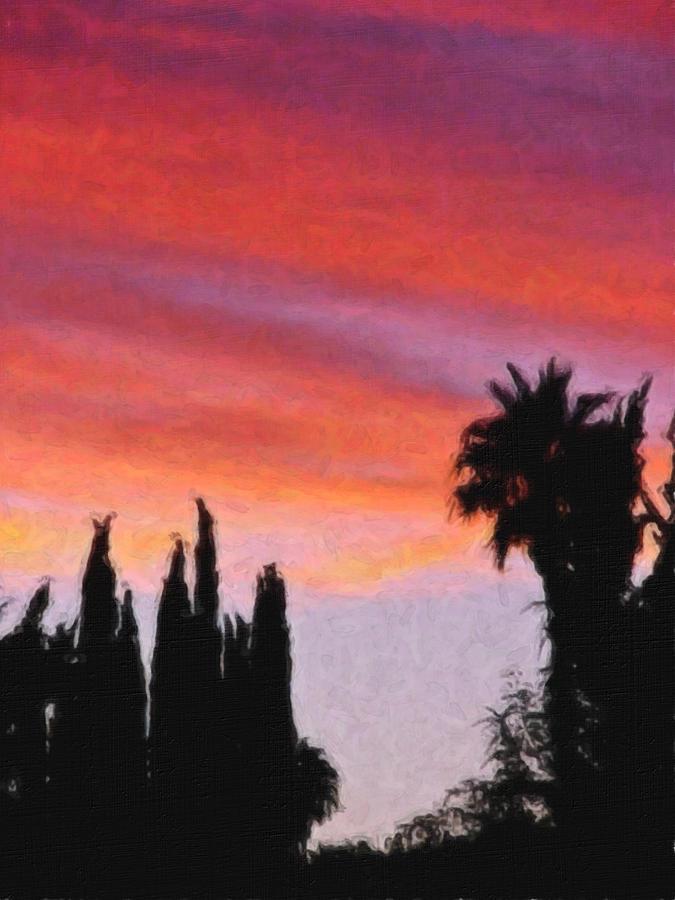 California Painting - California Sunset Painting 3 by Teresa Mucha