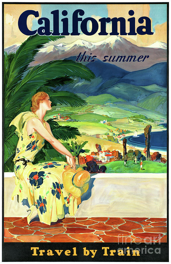 Travel Photograph - California This Summer Restored Vintage Poster by Carsten Reisinger
