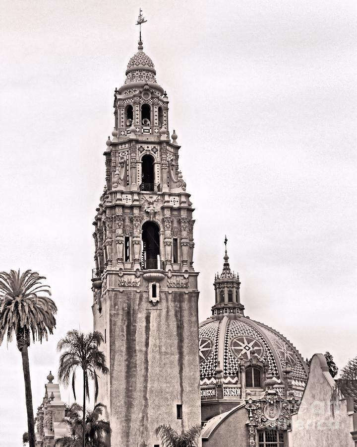 Museum Photograph - California Tower by Caroline  Jeanine