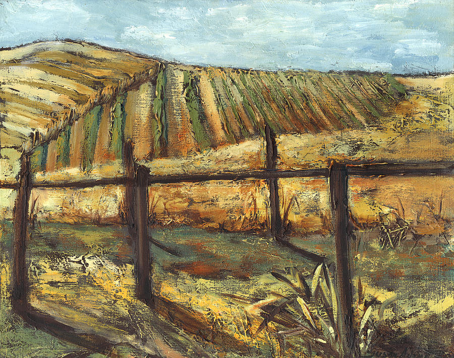 Vineyard Painting - California Vineyard by Susan Adame