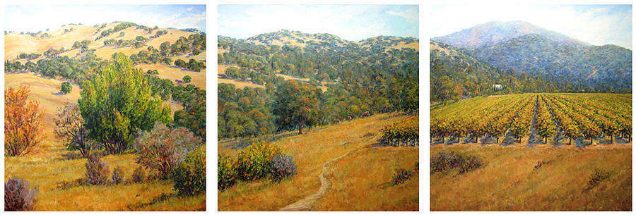 Landscape Print - California Vista by Vicki Asp