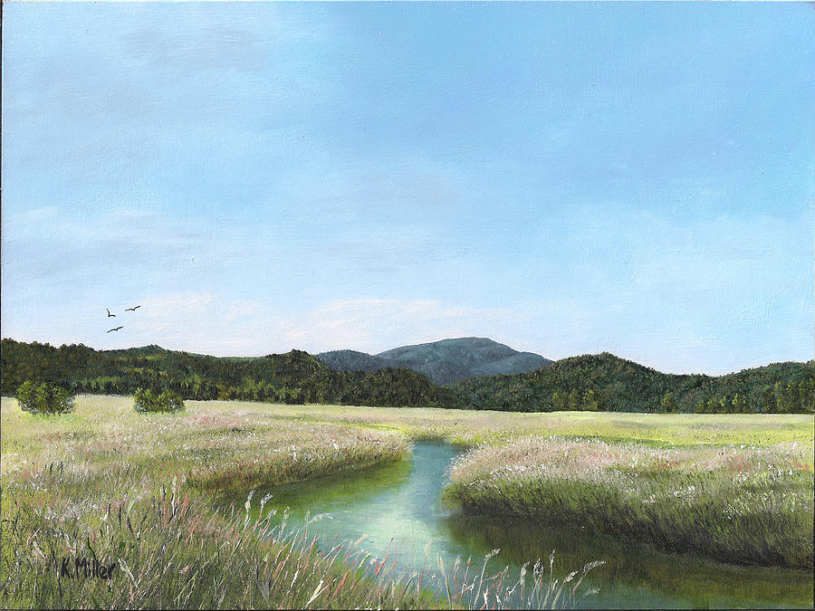 Reflections Painting - California Wetlands by Kathie Miller