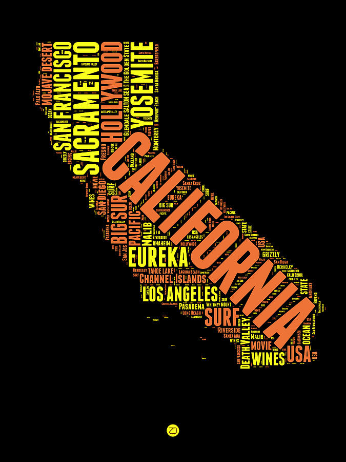 California Word Cloud Map 1