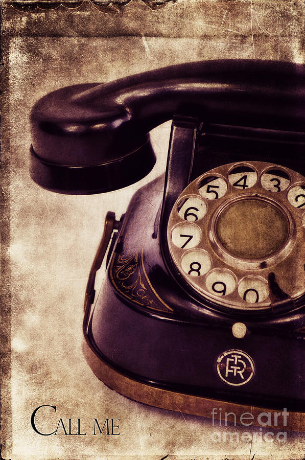Phone Photograph - Call Me by Angela Doelling AD DESIGN Photo and PhotoArt