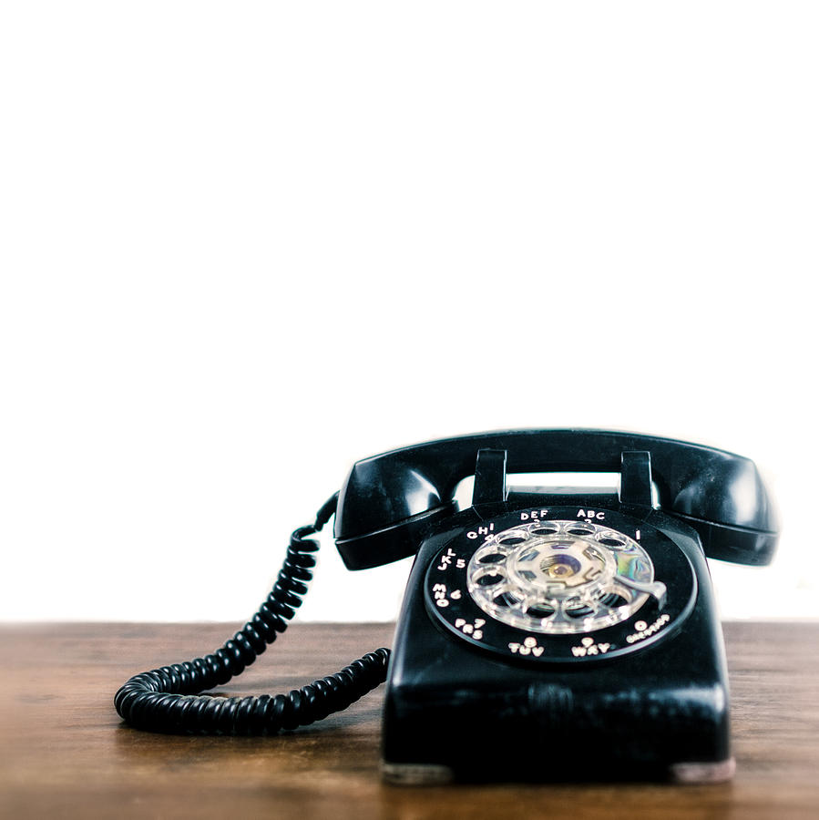 Rotary Telephone Photograph - Call Me Lets Do Work. by TC Morgan