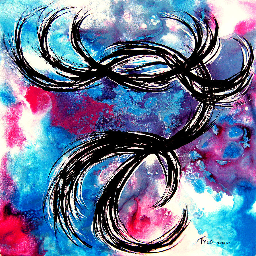 Contemporary Abstract Painting - Call Me Maybe by Tylo Jacobs