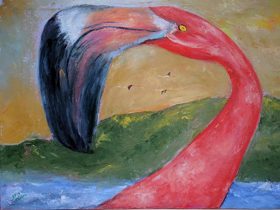 Bird Painting - Call me Tim by David McGhee
