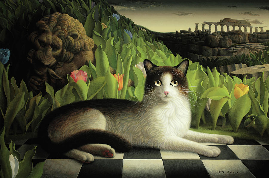 Cat Painting - Call of the Wild  by Chris Miles